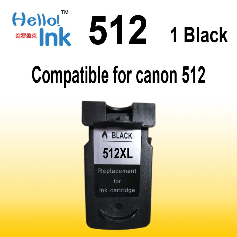 1 BLACK PG 512 CL 513 ink cartridge compatible for Canon PG-512 CL-513 used for Canon MP240 MP250 MP270 MP230 MP480 MX350 IP2700