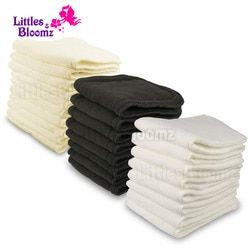 Reusable Washable Inserts Boosters Liners For Real Pocket Cloth Nappy Diaper Cover Wrap Insert microfibre bamboo charcoal insert
