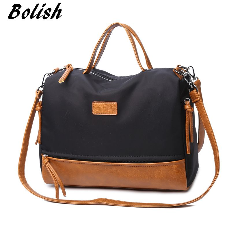 Bolish High Quality Oxford Women Handbag Fashion Female Shoulder Bag Crossbody Bag Larger Size Women Bag
