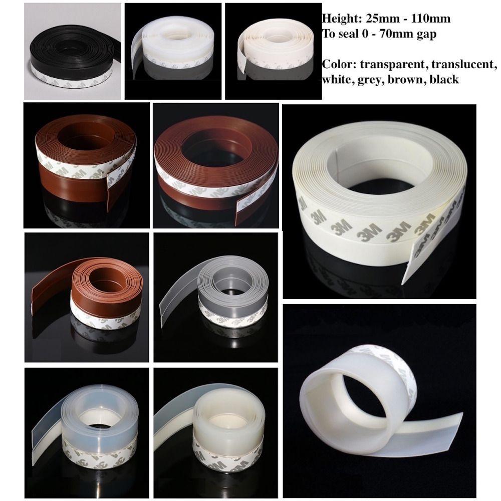 Bouchon de tirage coulissant châssis verre métal en bois porte fenêtre joints 25mm 35mm 45mm x 5 m 60mm 110mm x 3 m marron blanc noir gris