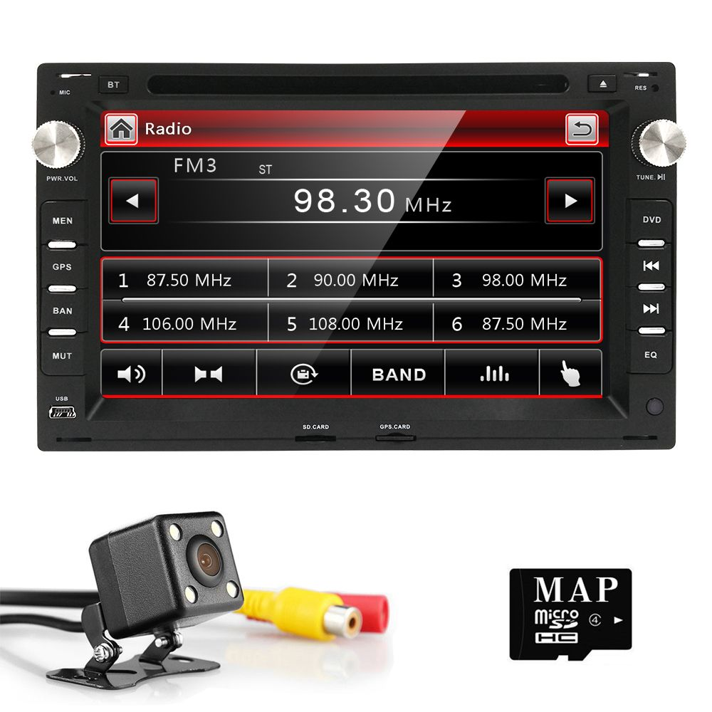 AutoRadio 2din Car DVD Player for Seat ibiza leon polo Volkswagen VW Passat B5 MK5 skoda superb GOLF MK4Transporter T4 T5 Sharan