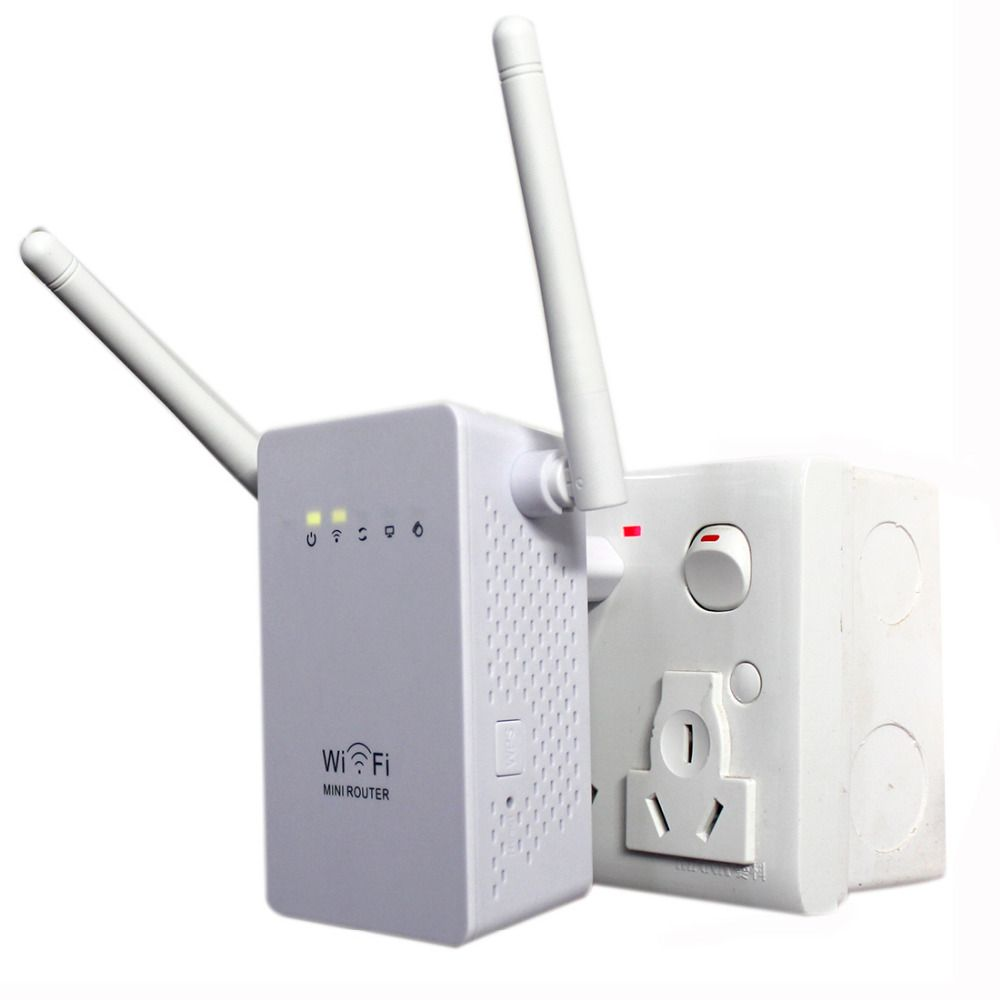 NOYOKERE Neue 300 Mbps WiFi Repeater Network Range Extender Booster N300 Einzigen Erhöhen Dual Externe Antennen EU Us-stecker