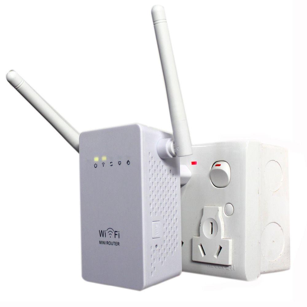 NOYOKERE New 300Mbps WiFi Repeater Network Range Extender Booster N300 Single Increase Dual External Antennas EU US Plug