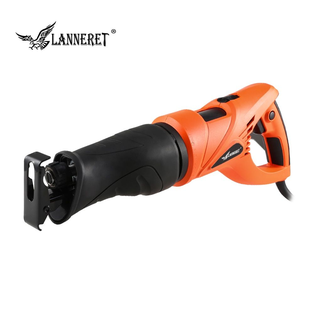 LANNERET 800W Electric Reciprocating Saw Multifunction Saber Hand Saw with Rotating Handle for Wood and Metal Cutting