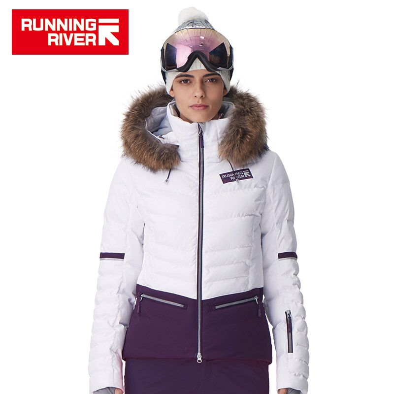RUNNING RIVER Brand Women Ski Jacket 4 Colors Size S -2XL Waterproof Ski Snow Jacket Women Winter Outdoor Sports Coat #D7150