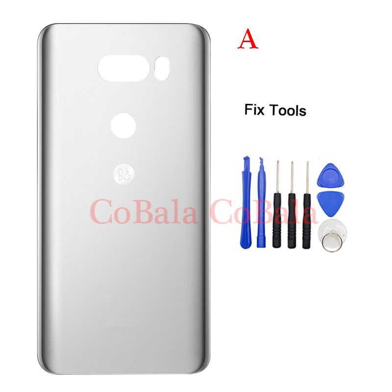 LOVAIN Original 1Pcs For LG V30/V30 Plus V30+ H930 H931 Back Battery Cover Rear Door Panel Housing Case Glass+Adhesive Sticker