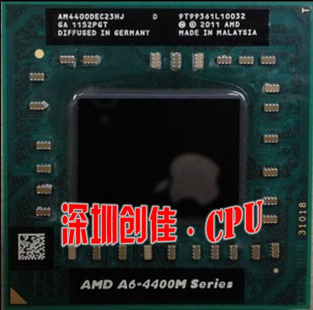 Original AMD Dual Core A6-4400M 2.7Ghz A6 4400M AM4400DEC23HJ A6-Series notebook CPU PROCESSOR best quality processor