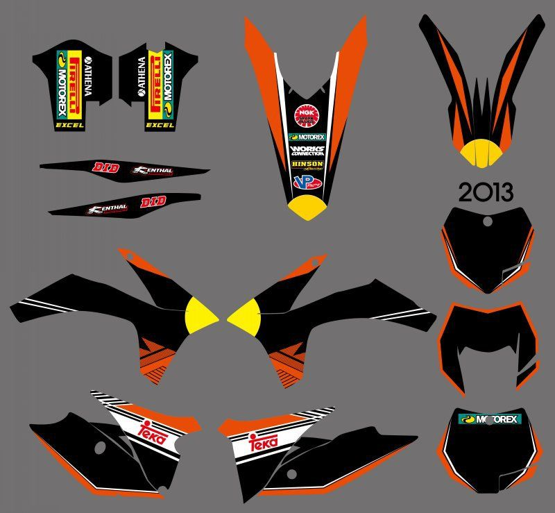 GRAPHICS WITH MATCHING BACKGROUNDS Sticker For KTM 125 200 250 300 350 450 500 EXC 2012 2013 XC 2011