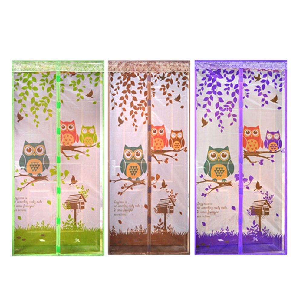 4 Cortina de Color Duradero Anti Mosquito Magnética Cortina de Puerta de Cierre Automático de la Puerta de Pantalla Del Acoplamiento Del Verano de Tulle Net 90/100*210 cm