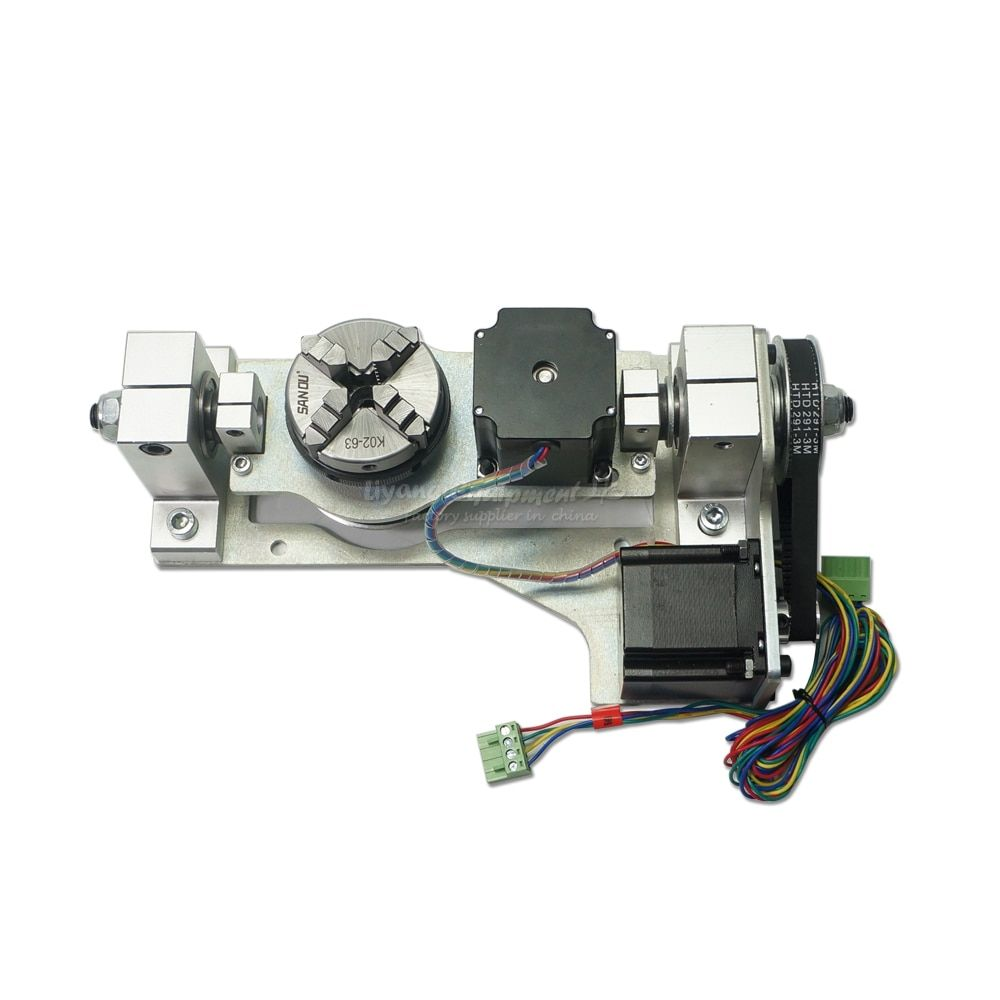 CNC machine parts Rotary axis with table 5th axis update from 3 4th axis 3020 3040 6040 wood router
