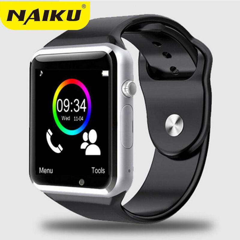 NAIKU usine A1 montre-bracelet Bluetooth montre intelligente Sport podomètre avec caméra SIM Smartwatch pour Smartphone Android russie