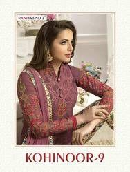 RANITREND'Z Indian Pakistan Women's Churidar Salwar Kameez Designer Flower Embroidery Dress Set Bollywood Ethnic Party Dress