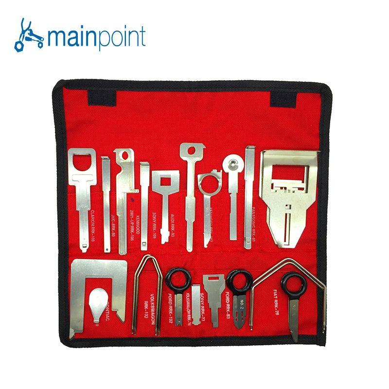 Mainpoint 38 Stücke Professionelle Auto/Auto Innen Audio Stereo CD-Player Radio Entfernung Schlüssel Stereo Release Entfernung Kits Hand werkzeuge
