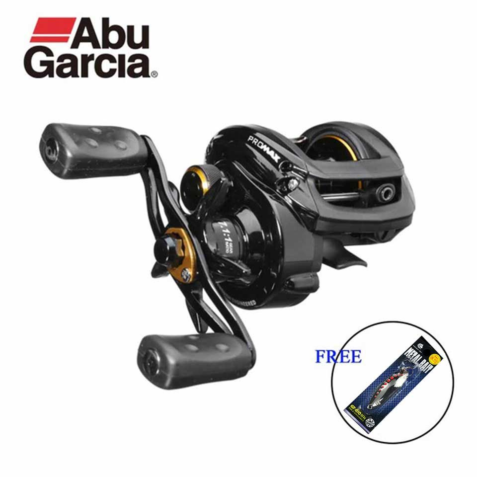 Abu Garcia Pro Max Fishing Reel Low Profile Baitcasting reels Water Drop Wheel 7.1:1 8KG Power 7+1BB get Orginal Lure free