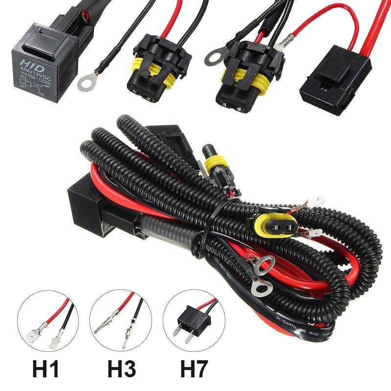 Универсальный H7 H3 H1 автомобиля свет жгут преобразования света контроллер гнездо Вилки комплект предохранителей Мощность off