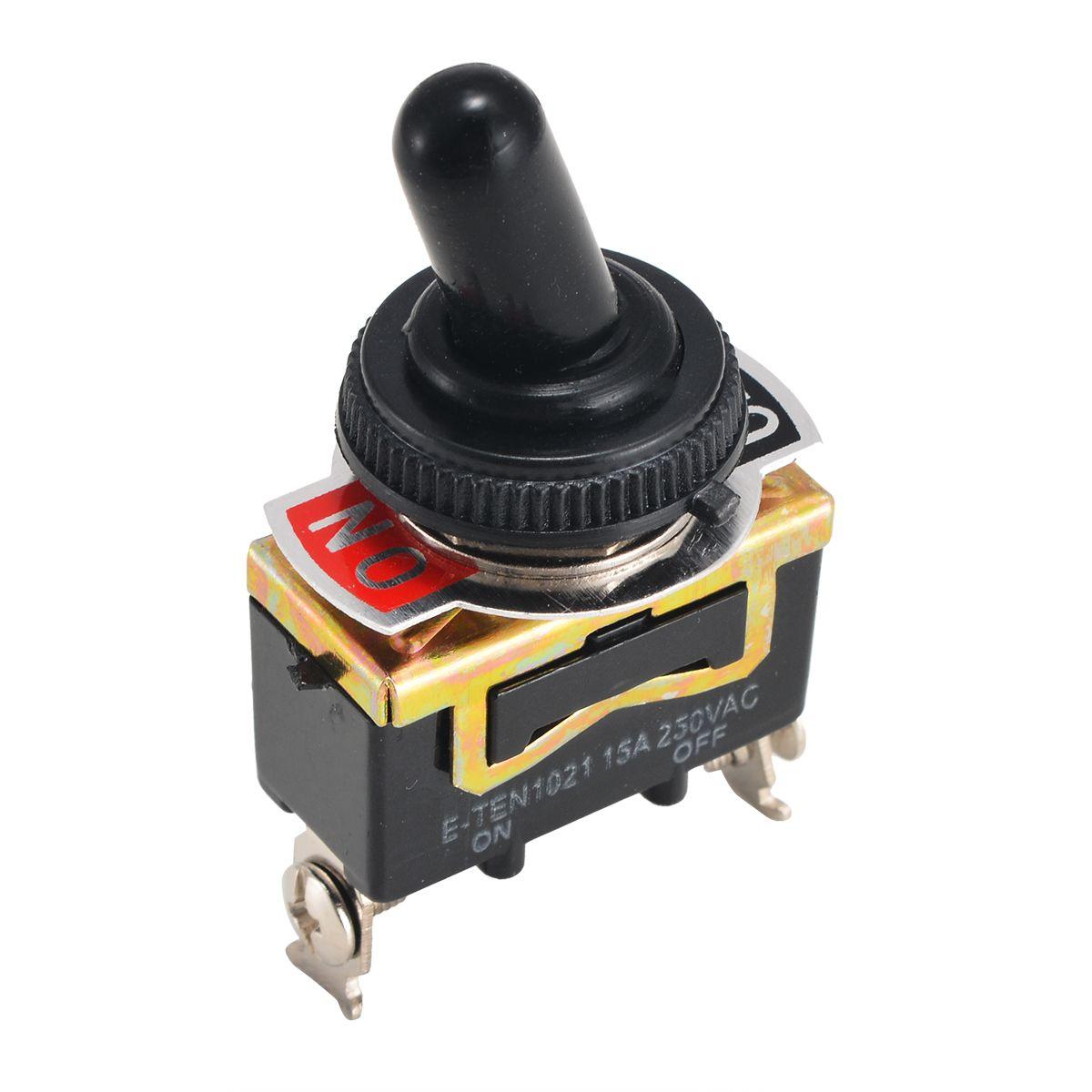 5 stücke Mayitr Hohe Qualität AUF/OFF Rocker Toggle Schalter Interruptor Heavy Duty 15A 250 v SPST 2 Pin schalter Wasserdicht Boot