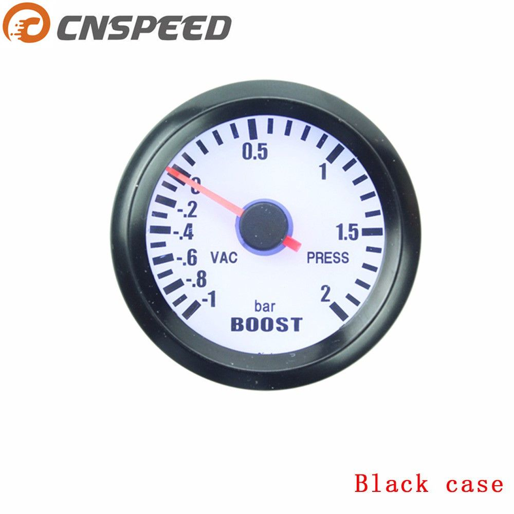 Free shipping CNSPEED 2 inch 52mm Turbo Boost Gauge -1~2 Bar turbo Boost meter with Boost Sensor Auto Gauge Car meter YC100011
