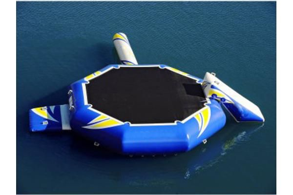 High quality water park inflatable water trampoline combo