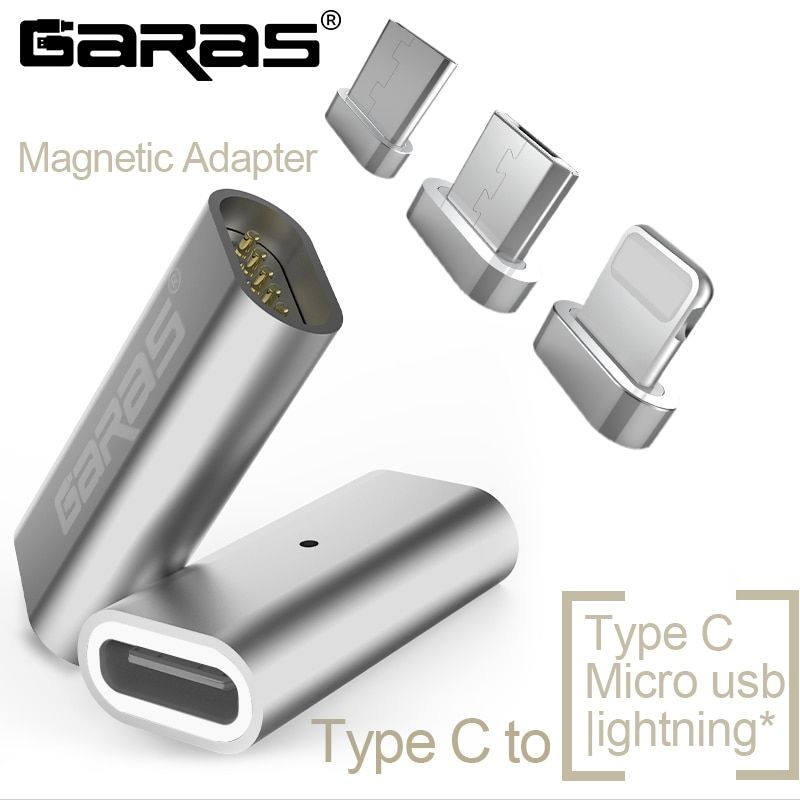 GARAS Type-C To Micro/For lightning Magnetic Adapter For iPhone/Android 3in 1 Data Cable Converter Adapter Type C To Micro USB C