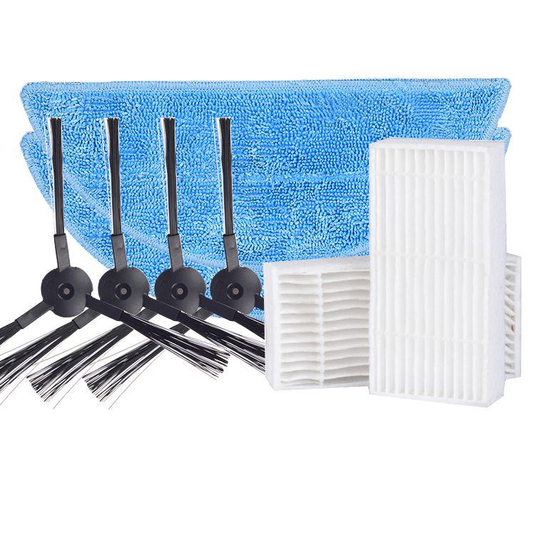 4x Brosse latérale + 2x Vadrouille tissu + 2x hepa Filte remplacement pour ilife v55 v5s v3s Robot aspirateur pièces brosses filtre vadrouille tissu