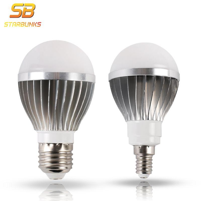 Starbunks светодиодный E14 Светодиодный светильник e27 светодиодный лампы переменного тока 220 В 230 В 240 В 12 Вт 9 Вт 7 вт 5 Вт лампада светодиодный проже...