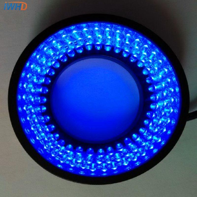 Pour la Vision Machine diamètre 40mm puissance 3.5 W anneau lumière Source 60 degrés Angle LED anneau lumières bleu lumière réglable luminosité