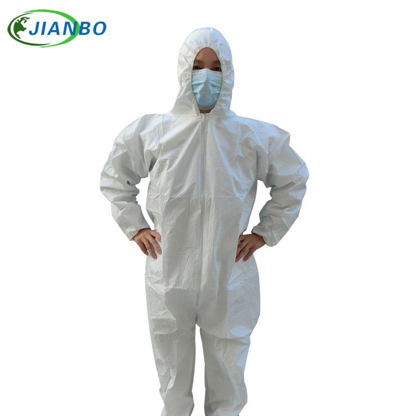 Vêtements de Protection jetables combinaison étanche industrielle épidémie pulvérisation Pesticide Protection chimique amiante travail Jacke