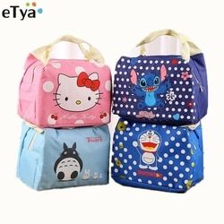 Cartoon Cute Insulated lunch Bag For  Women Men Kids  Food Picnic  Thermal Lunch Bags Portable School Students Box Tote Bags