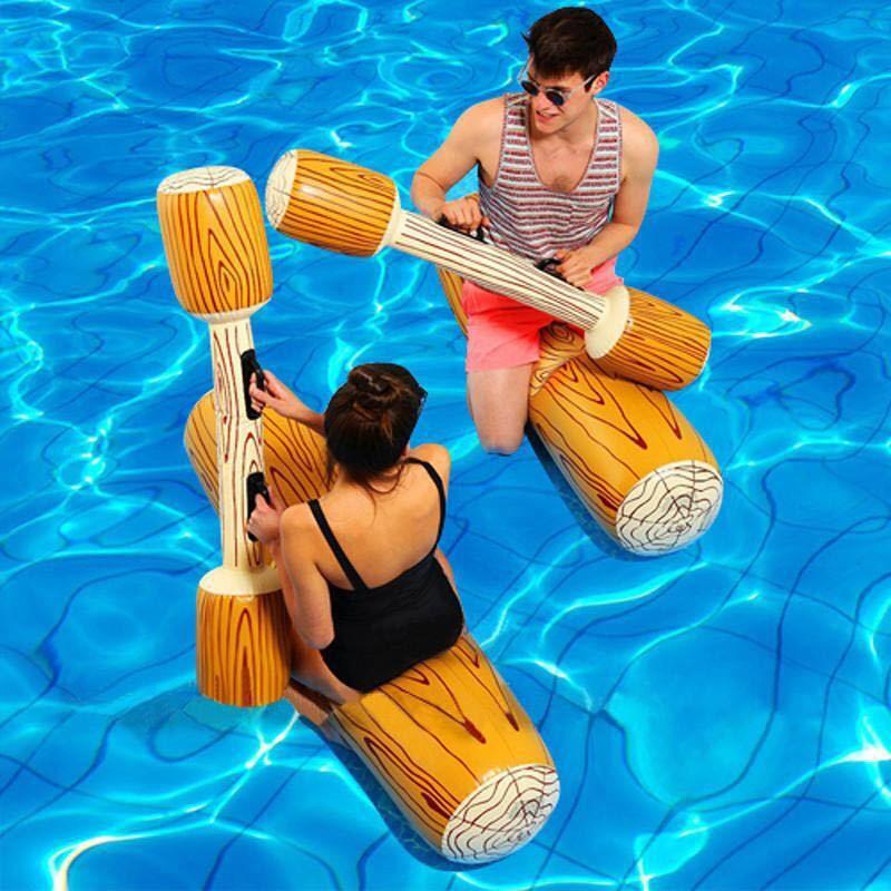 YUYU 4 pièces joute piscine flotteur jeu gonflable piscine jouets natation pare-chocs jouet pour adulte enfants partie gladiateur radeau anneau de bain