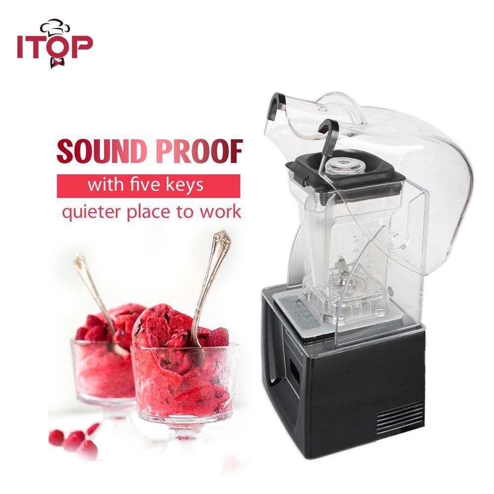 ITOP Kommerziellen Standard Mixer Smoothie Maker 1500 ml mit 5 funktionen Schwarz/Weiß Entsafter 110 v/220 v /240 v