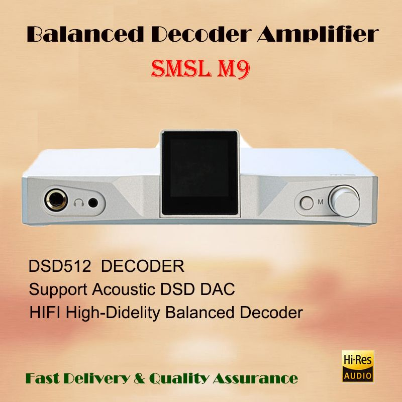 SMSL M9 hallo fi verstärker audio AK4490 uab dac amp hause ausgewogene decoder kopfhörer verstärker tragbare power verstärker sound amp