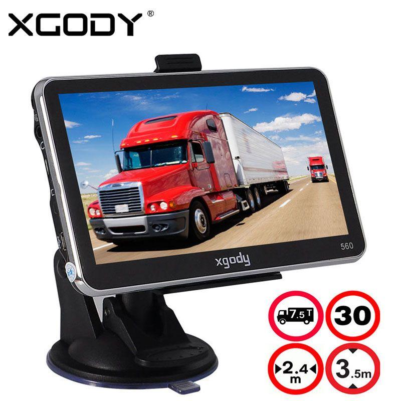XGODY 5 Inch Car Truck GPS Navigation 128M+8GB MTK FM SAT NAV Navigator Navitel Russia North/South American 2017 Europe Maps