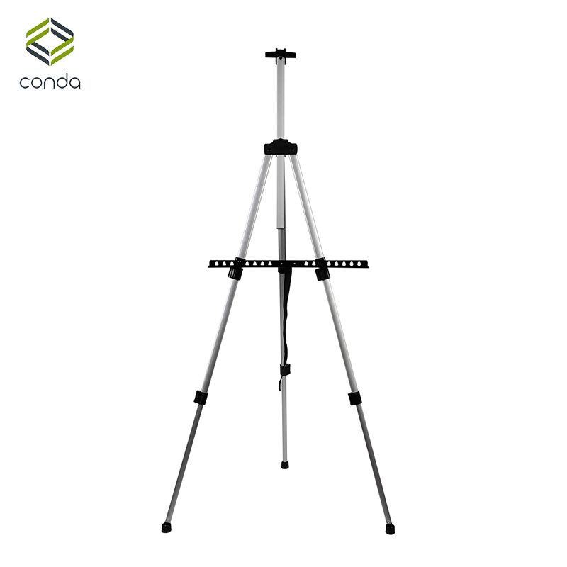 <font><b>Aluminum</b></font> Easels CONDA-Tall Collapsible Light Weight Adjustable Easel for Painting Drawing Artistic Folding Easel-155cm&carry Bag