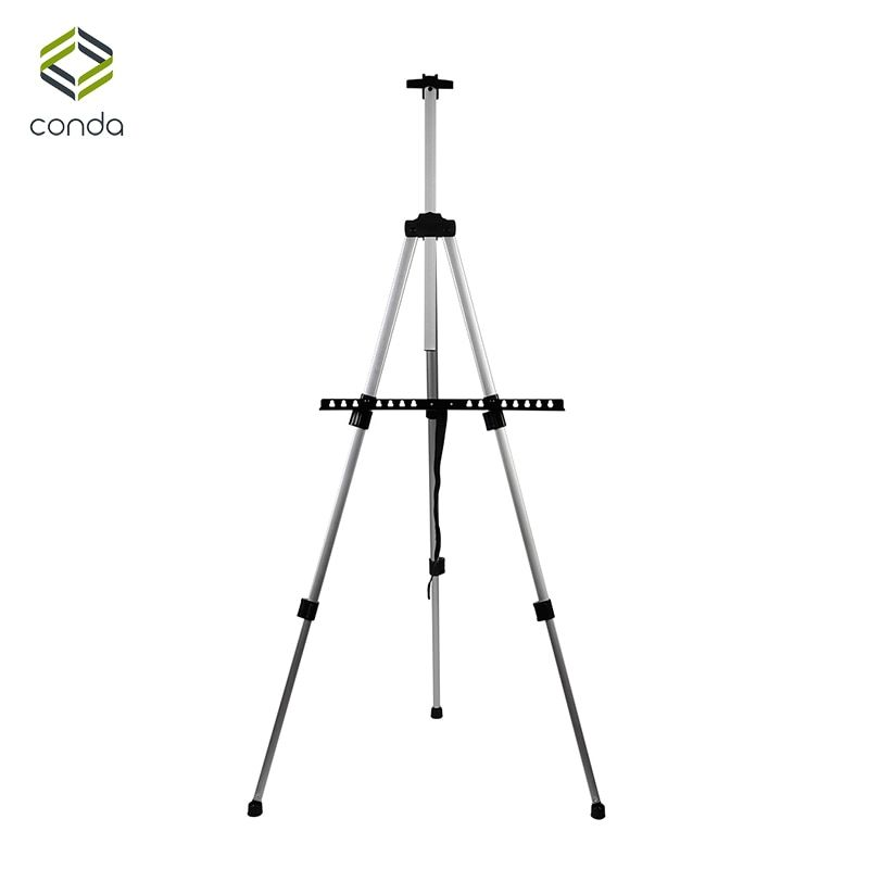 Aluminum Easels CONDA-<font><b>Tall</b></font> Collapsible Light Weight Adjustable Easel for Painting Drawing Artistic Folding Easel-155cm&carry Bag