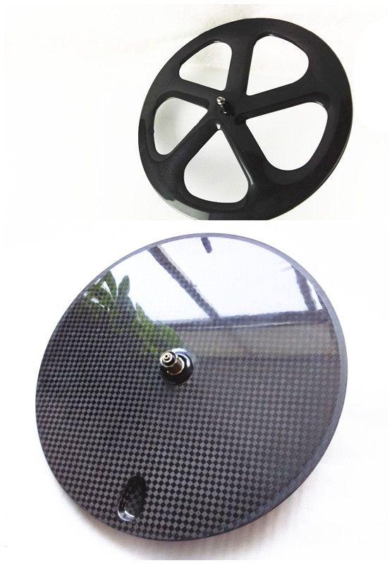 Freies verschiffen carbon fornt 5 speichen hinten disc wheels700C powerway R13 keramik 3 Karat 12 Karat UD matte klammer tubular straße/Fixed getriebe
