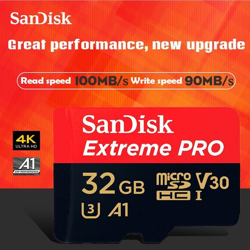 Livraison gratuite SanDisk Extreme Pro microSDHC/XC Carte Mémoire micro SD carte TF Carte 100 MB/s 32 GB 64 GB 128 GB Class10 U3 A1 V30