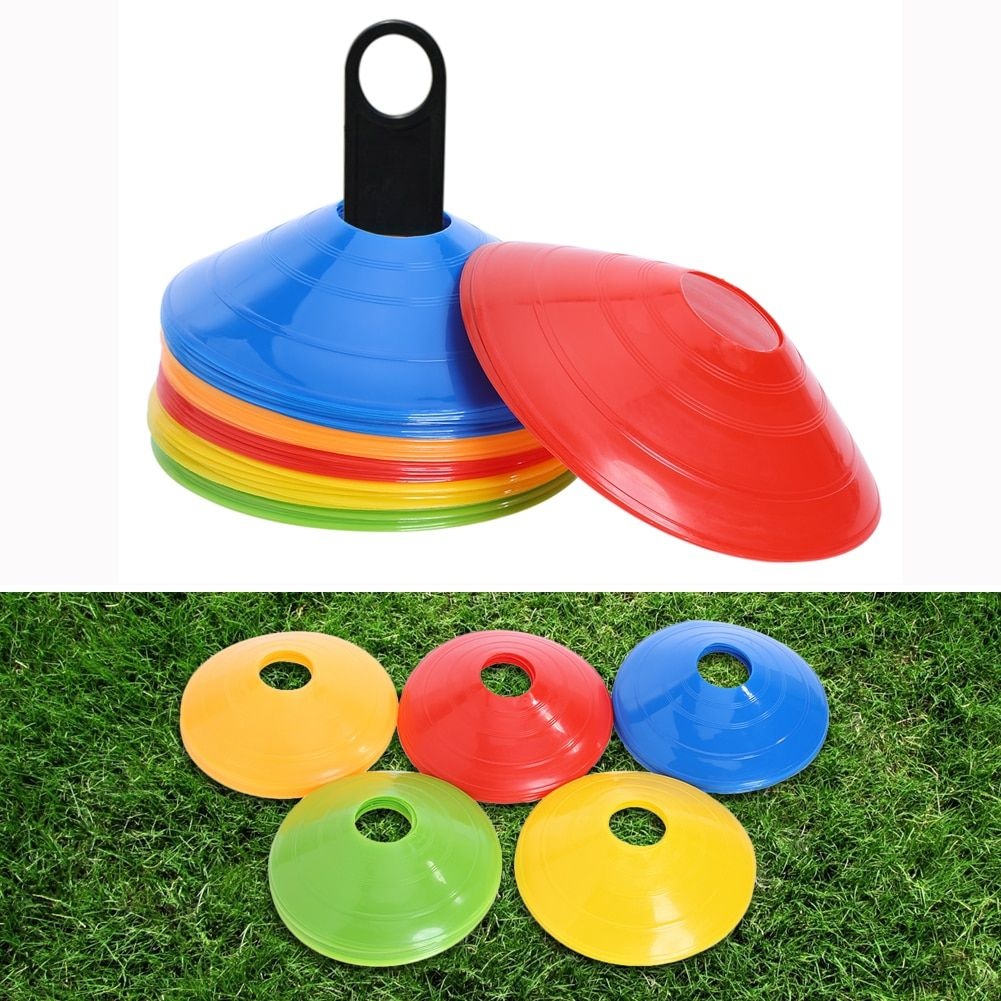 50pcs/lot 20cm Football Training Cones Marker <font><b>Discs</b></font> Soccer High Quality Sports Saucer Entertainment Sports Accessories