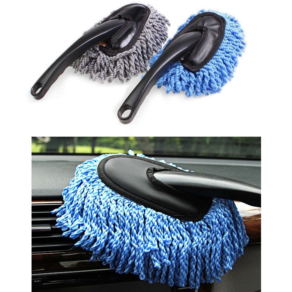 1 Pcs Multi-functional Car Duster Cleaning Dirt Dust Clean Care Brushes Dusting Tool Mop Dust Clean Brush 2 Color Glass Wiper