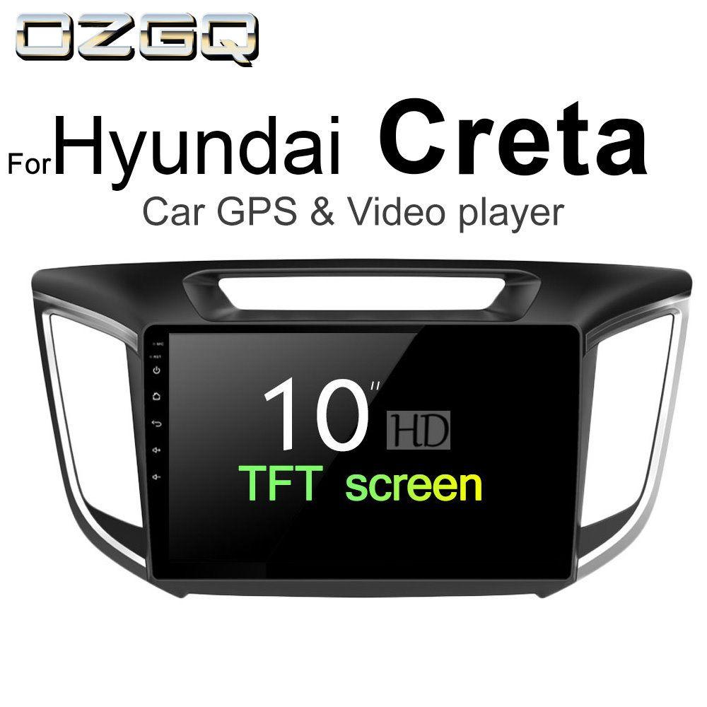 OZGQ Android 7.1 Car Player For Hyundai Creta 2014-2018 Screen Auto GPS Navigation Bluetooth Radio TV Audio Video Music Stereo