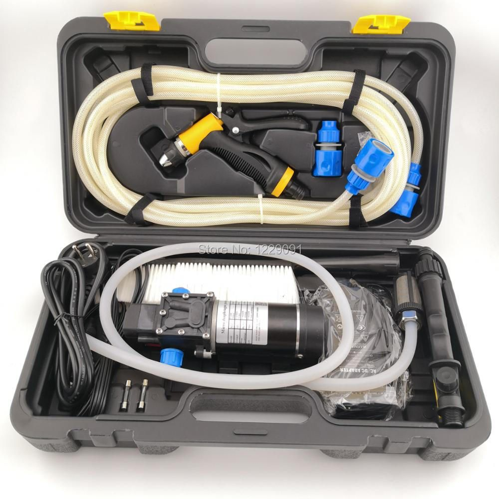 Ménage 100w portable haute pression électrique lave-auto laveuse 8Lpm 12V 24v voiture laveuse Machine à laver