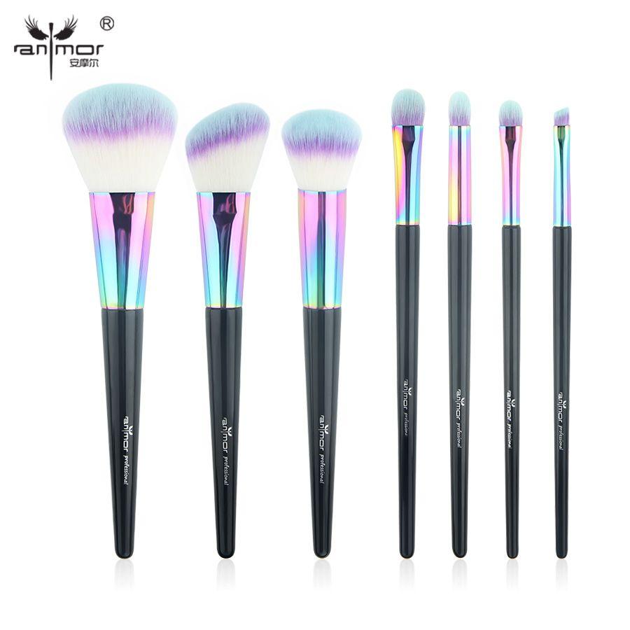 Anmor Haute Qualité 7 pcs/ensemble Maquillage Pinceaux Professionnel Make Up Brosse Outils Couleurs Disponibles CF-734
