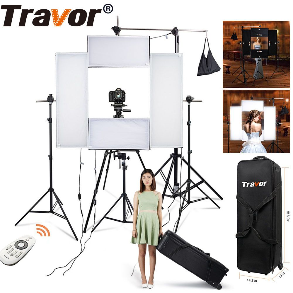Travor 4in1 Flexible Led video light Headshot Light 100w 5500K CRI95 with 2.4G Wireless Remote control for portrait photography