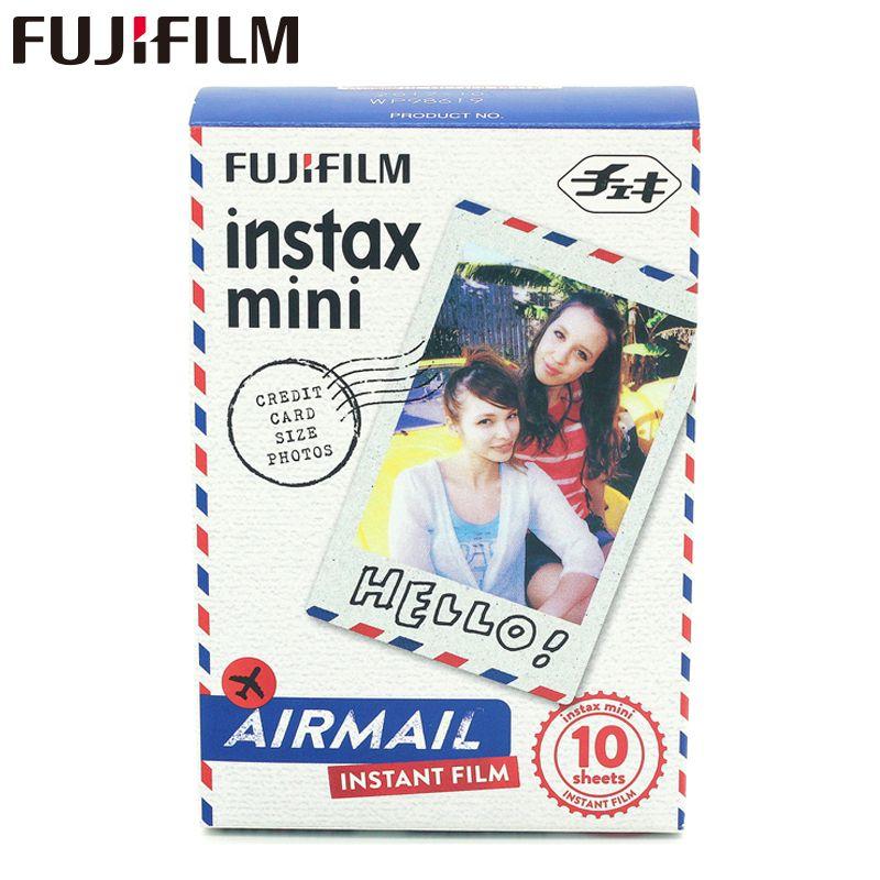 Véritable Fuji Mini 8 Film Fujifilm Instax Mini Film 10 Feuilles Air Mail Pour 8 50 s 7 s 90 25 SP-1 Appareils Instantanés