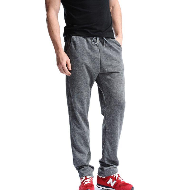Grande Taille 4XL Nouveau Design pantalon de Jogging Hommes Délicatesse D'entraînement Noire Pleine Longueur Pantalons Décontracté Exercice Porter Pantalon Classique