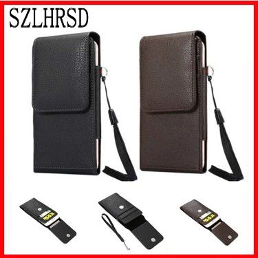 SZLHRSD Belt Clip PU Leather Waist Holder Flip Pouch Case for Oukitel K10000 Mix Homtom HT70 Blackview P10000 Pro Doopro P4 Pro