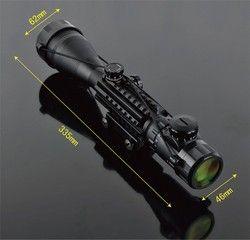 C 4-16X50 Misalnya Lll Night Vision Lingkup Senapan Angin Gun Riflescope Outdoor Berburu Teleskop Pandangan Tinggi Reflex Lingkup Gun- pandangan Optik