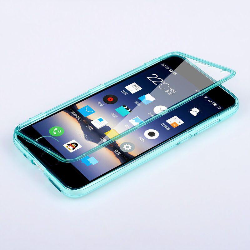 Fundas MEIZU M3 Note Cas Flip Effacer Cover Tpu Silicone Transparent Coque Meilan Note3 Carcasa Tactile Écran Protecteur Téléphone Sac