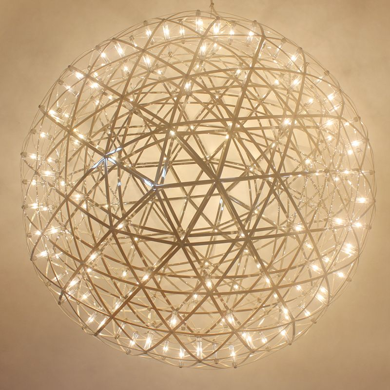 Modern Pendant Lamp LED Firework Lamp Stainless Steel Creative Circle Pendant Light Dia.30cm 40cm 50cm 60cm Ball free EXPRESS