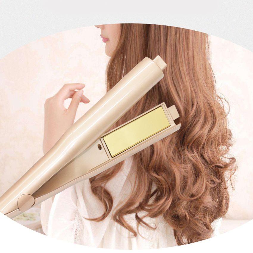 Free Shipping New Fashion Salon Quality 2-in-1 Hair Curling & Straightening Iron Hair Curler Flat Iron Hair Straightener
