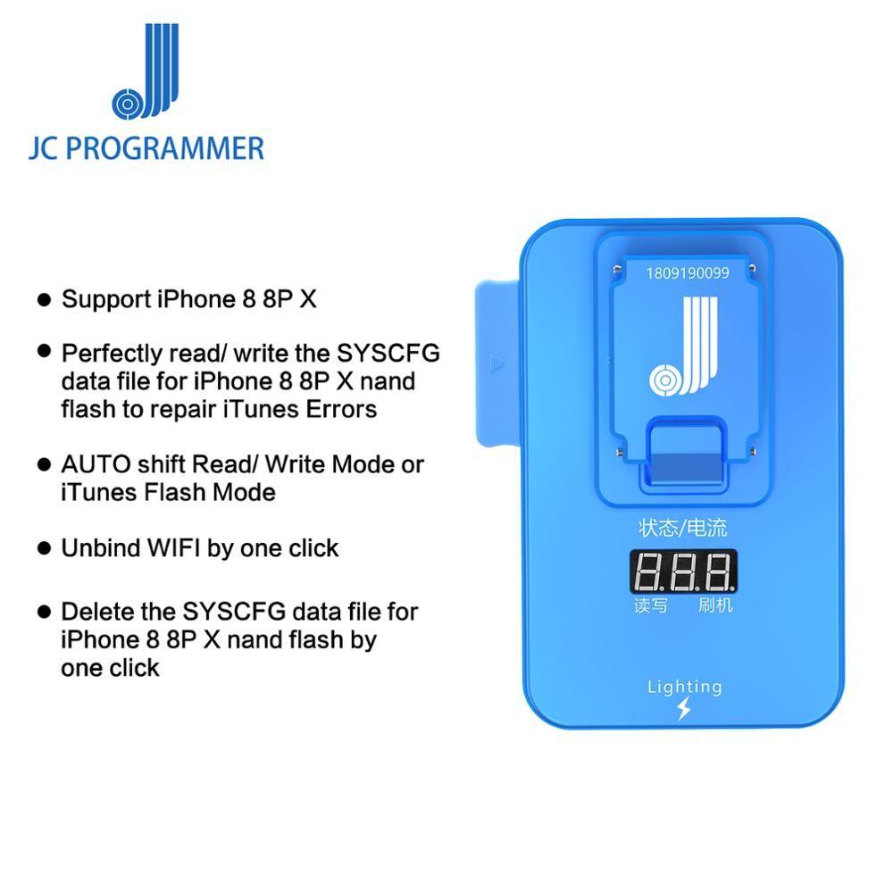JC Pro1000S PCIE NAND Programmer Test Leuchte für iPhone 8 8 P X Fehler Reparatur Werkzeug